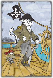 2012 Pirates of the Cowwibean - Cow Chip Theme Art